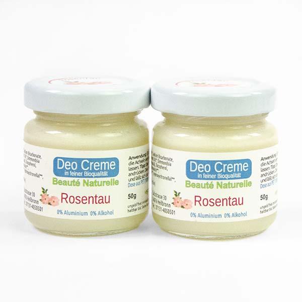 Rosentau 2er Pack Bio Deo Creme Beaute Naturelle Rosentau Rosenrot Naturkosmetik rosen-huus