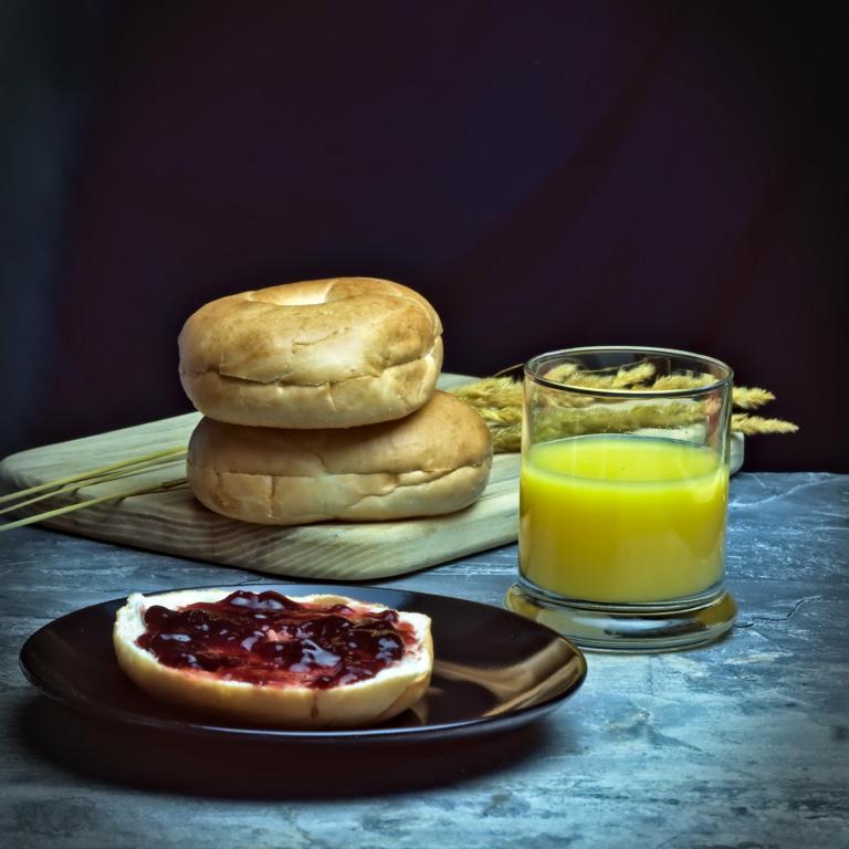 Bagels zum Frühstück